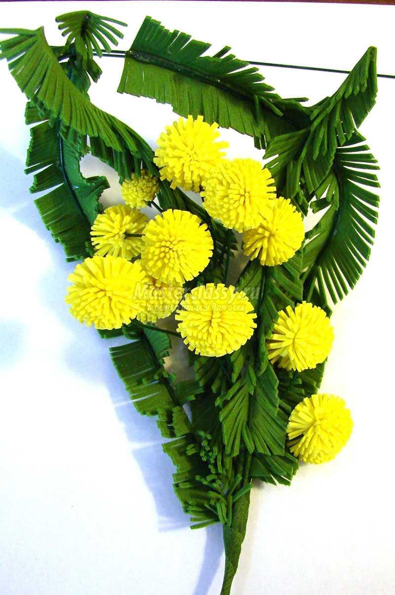 цветы из фоамирана мастер класс