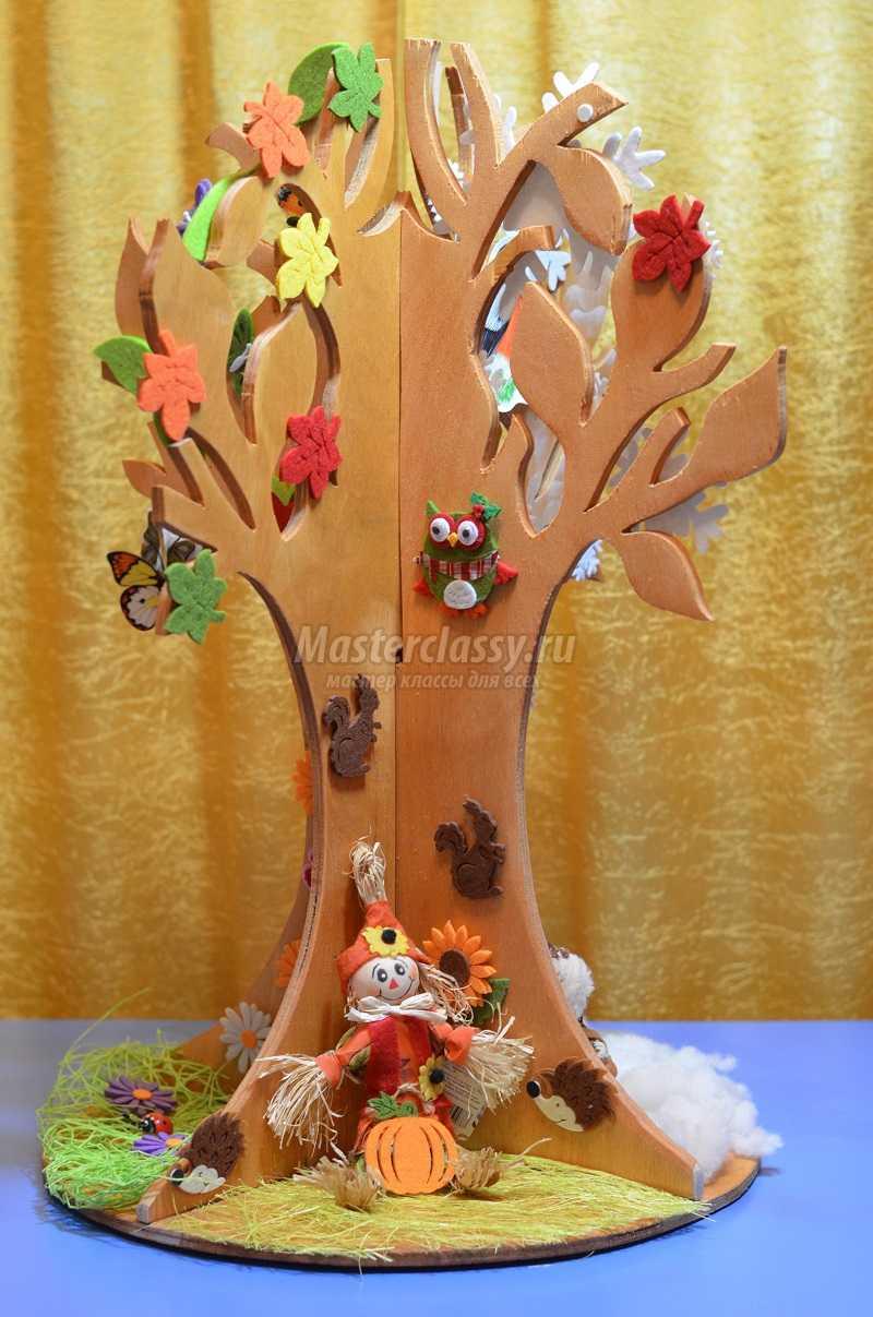 Дерево времен года в детском саду своими руками 292