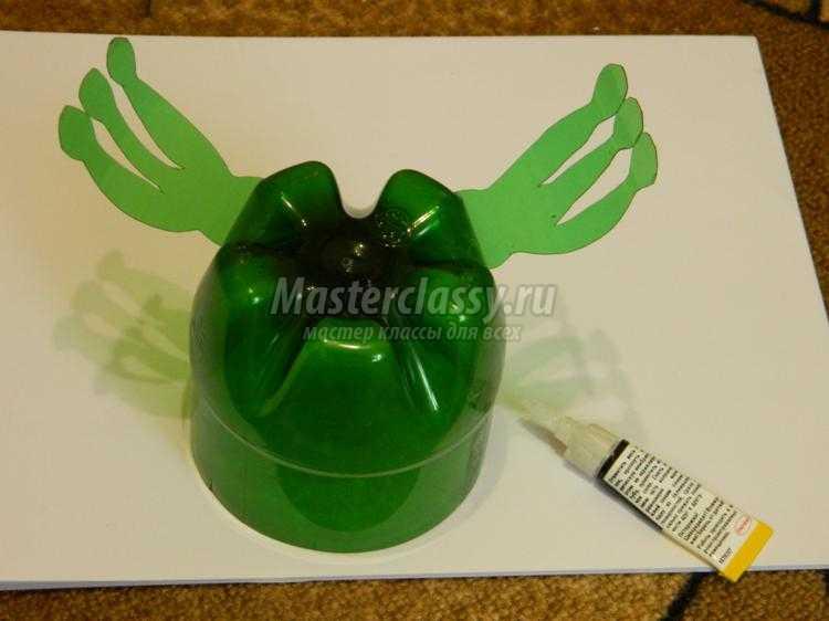 Пошаговая инструкция лягушка из бутылок