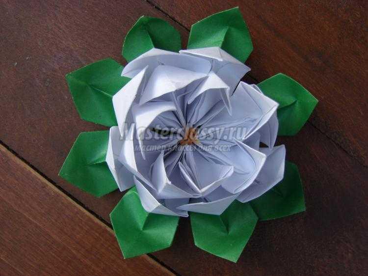 лотос из бумаги в технике оригами