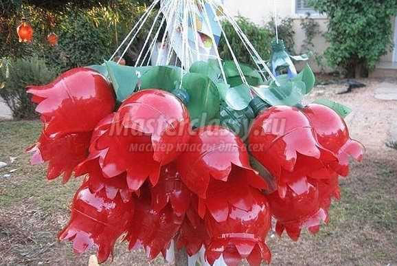Фигуры из пластиковых бутылок для сада своими руками