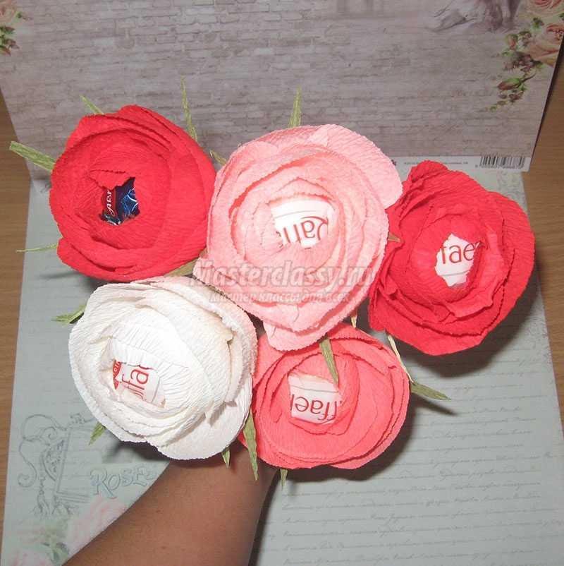 Конфеты из гофрированной бумаги своими руками розы 97