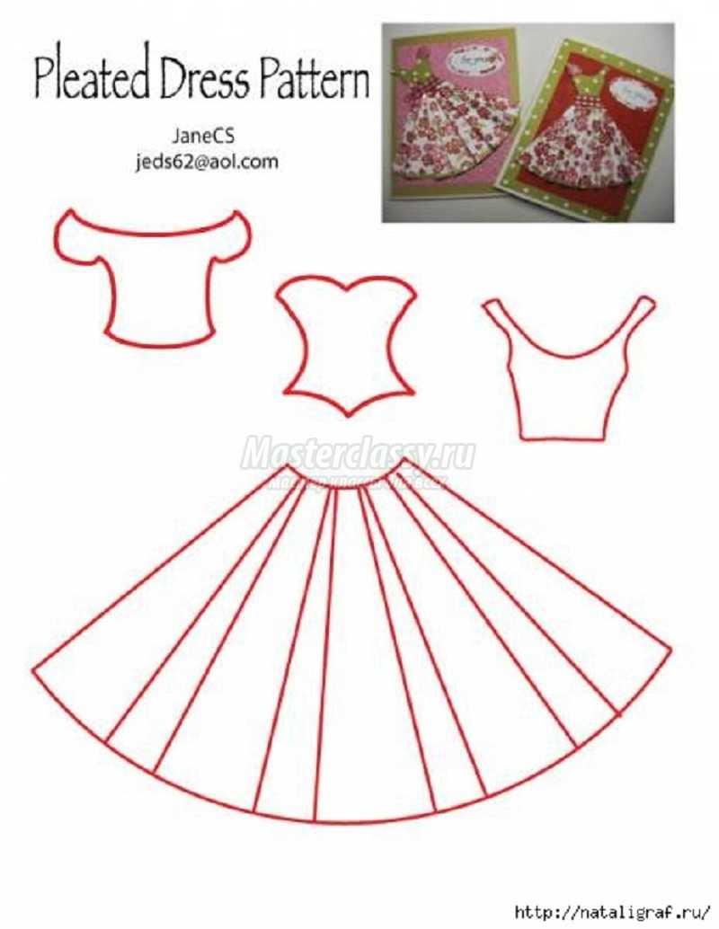 Открытки с днем рождения своими руками платья