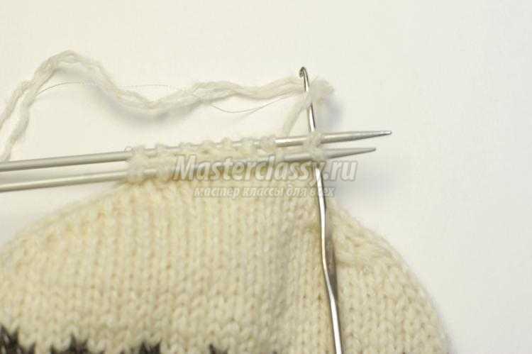 Вяжем носки на спицах размер