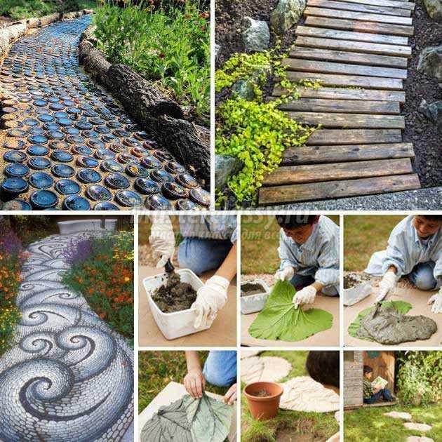 Дорожки для сада своими руками из подручных материалов