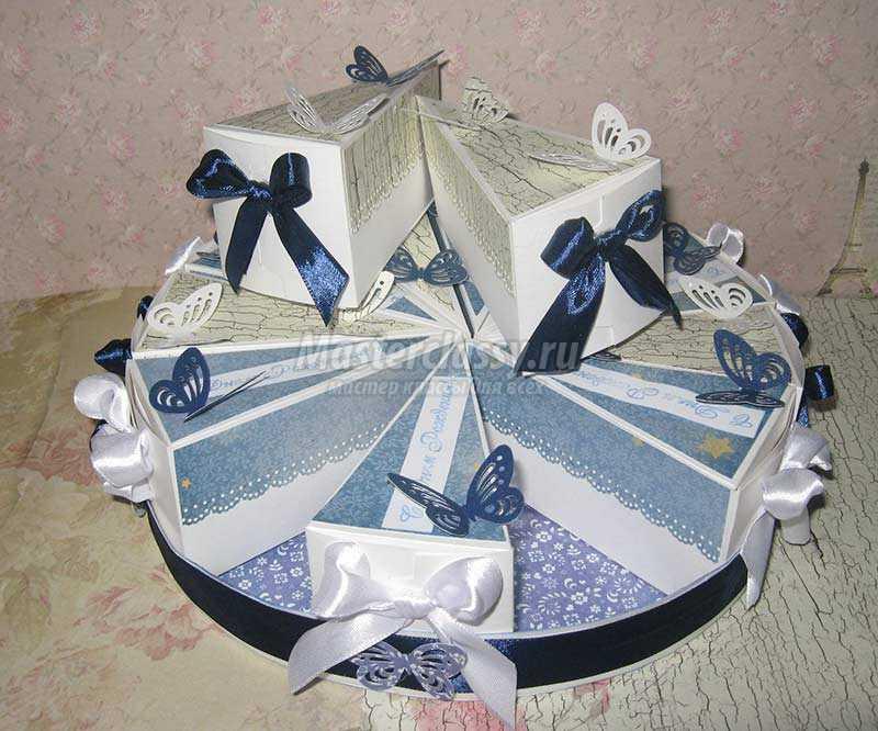 бумажный торт с пожеланиями своими руками