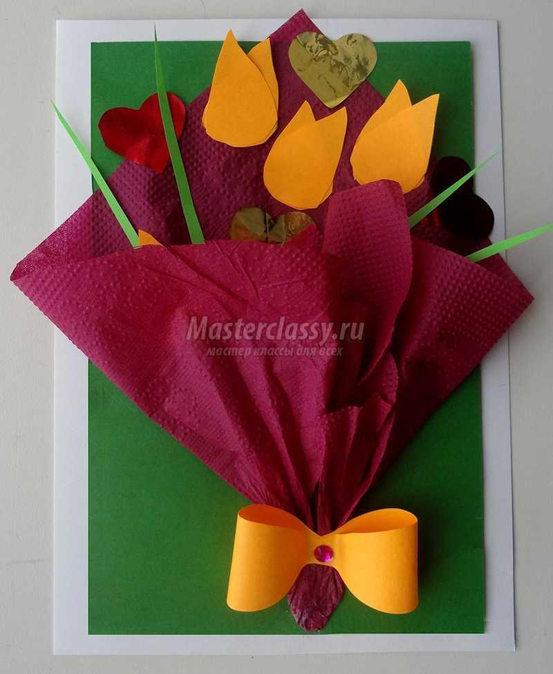 Открытки в виде цветов своими руками