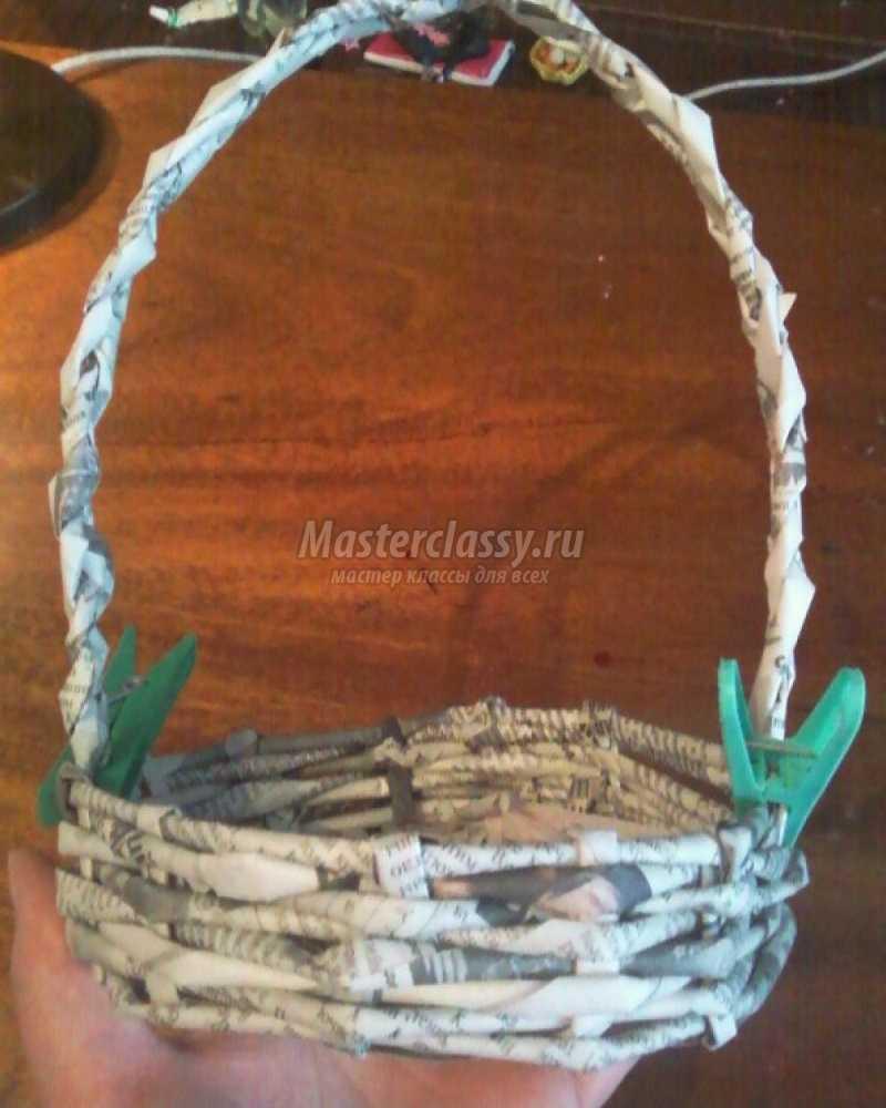 Поделки из плетение из газетных трубочек