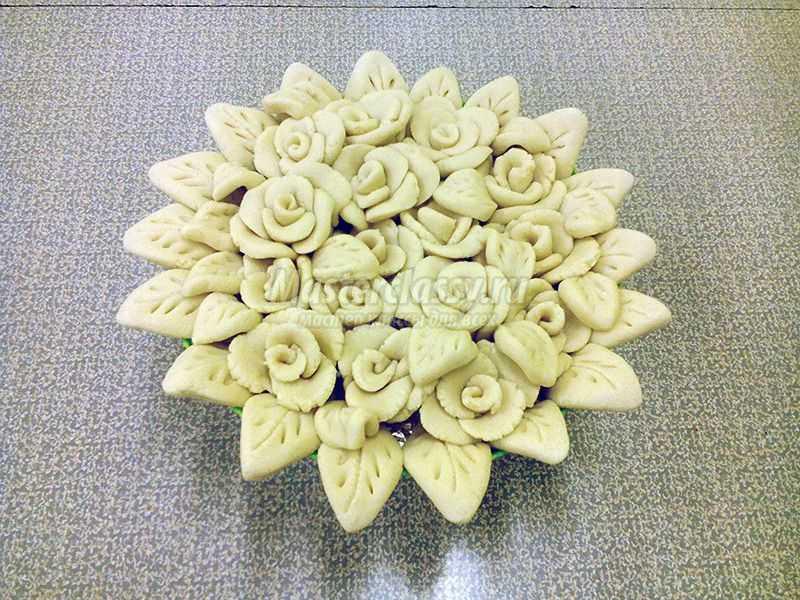 Цветы из теста своими руками