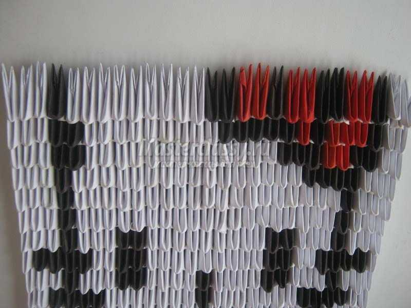 Картина в технике модульного оригами «Китти». Мастер-класс