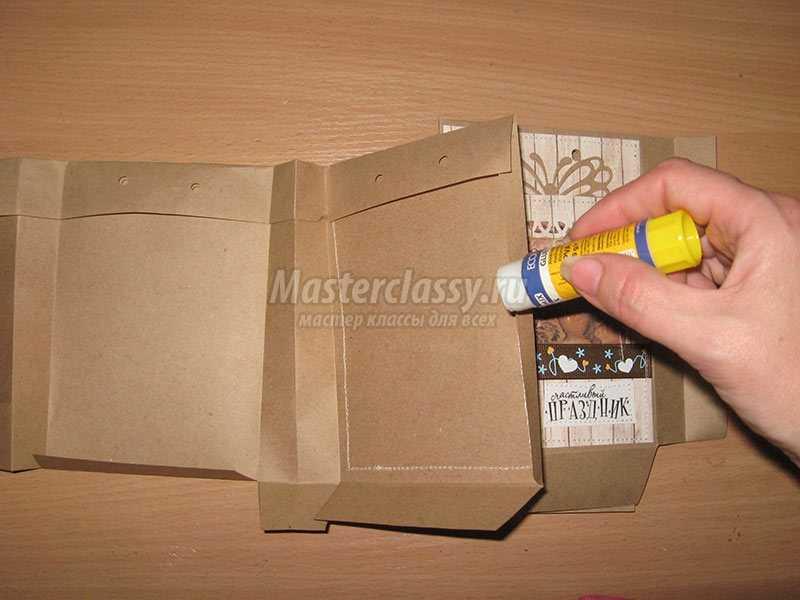 как сделать пакет из крафт бумаги
