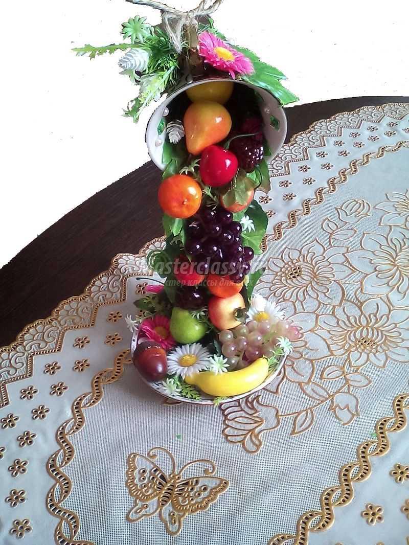 Чашка с фруктами своими руками мастер класс