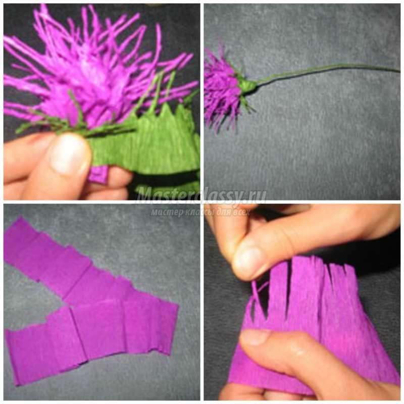 Как сделать пушистики из гофрированной бумаги