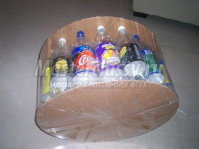 Пуфик из пластиковых бутылок: делаем своими руками