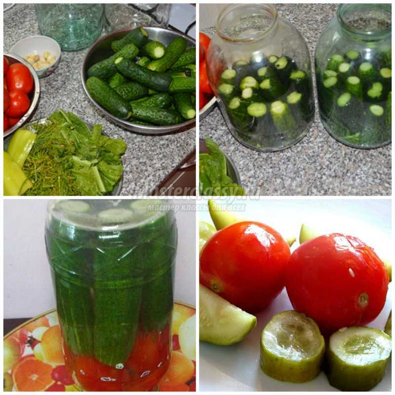 Огурцы и помидоры на зиму простой