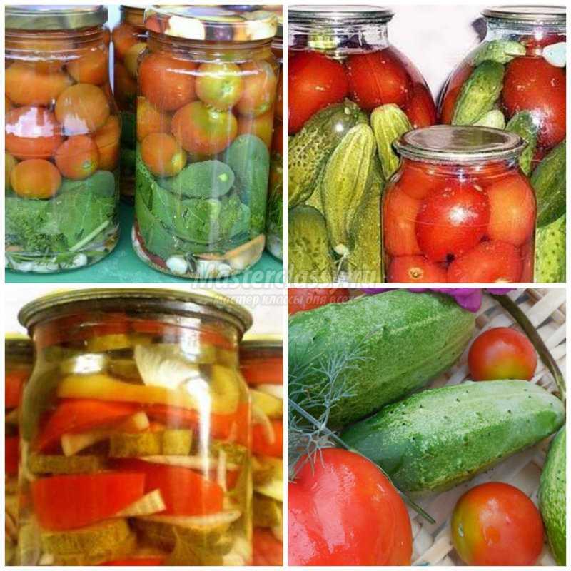 Лучшие огурцов и помидоров на зиму