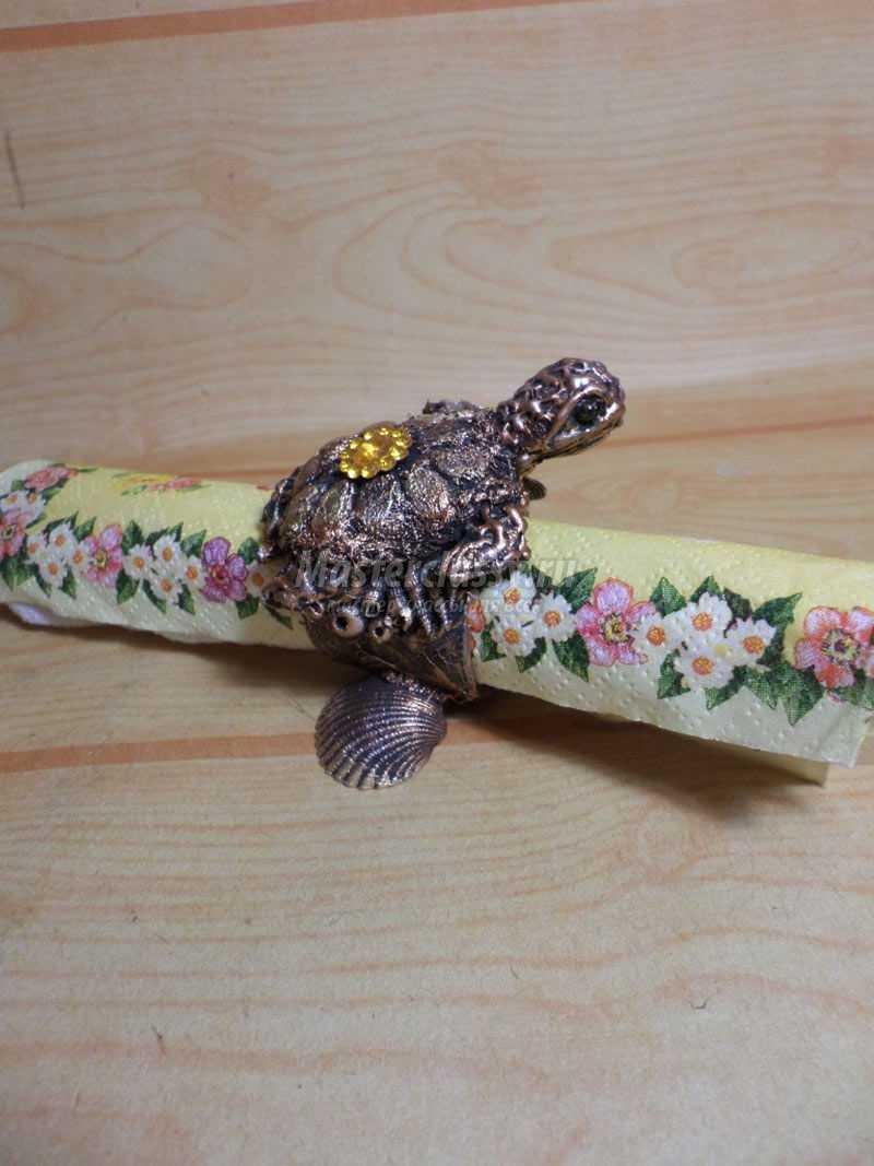 Кольцо для салфетки «Драгоценная черепашка». Мастер-класс с фото
