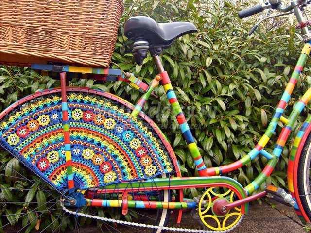 Велосипед: декор своими руками