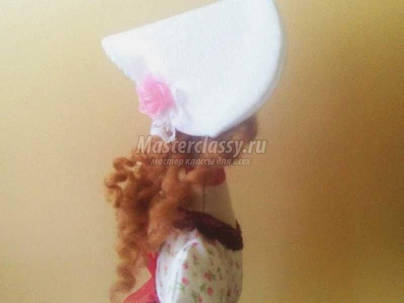 шляпка для тильды мастер класс