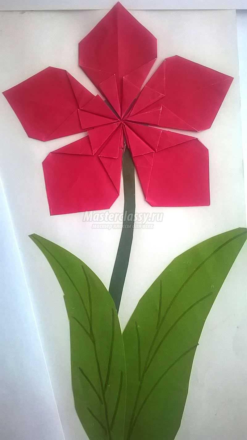 Оригами из кругов цветы схемы и