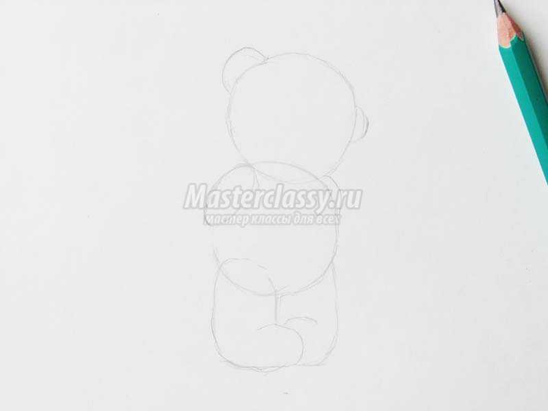 Как нарисовать мишку пошагово