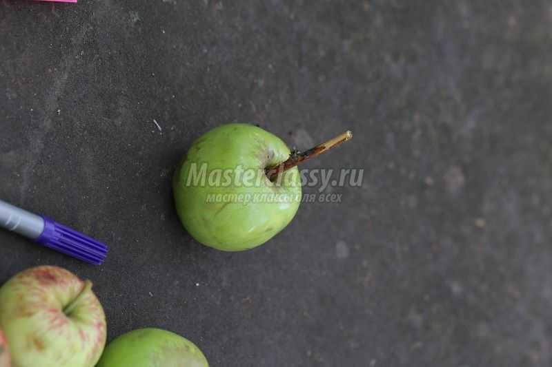Поделка из свежего яблока 37