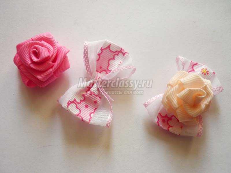 Розы из ленточек своими руками фото 586