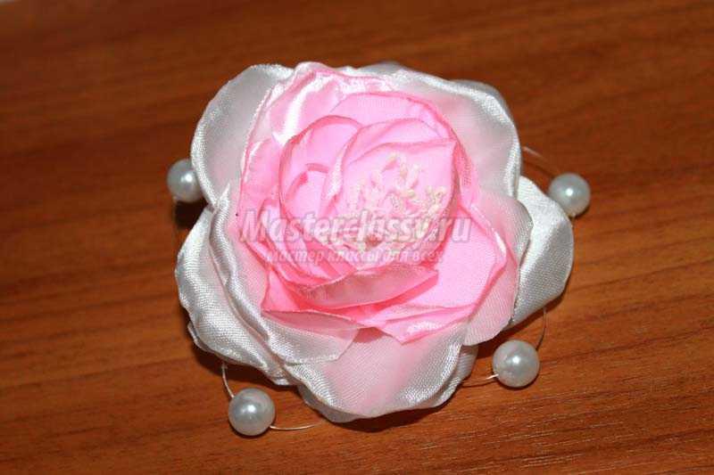 Ютуб мастер класс розы из лент  #5