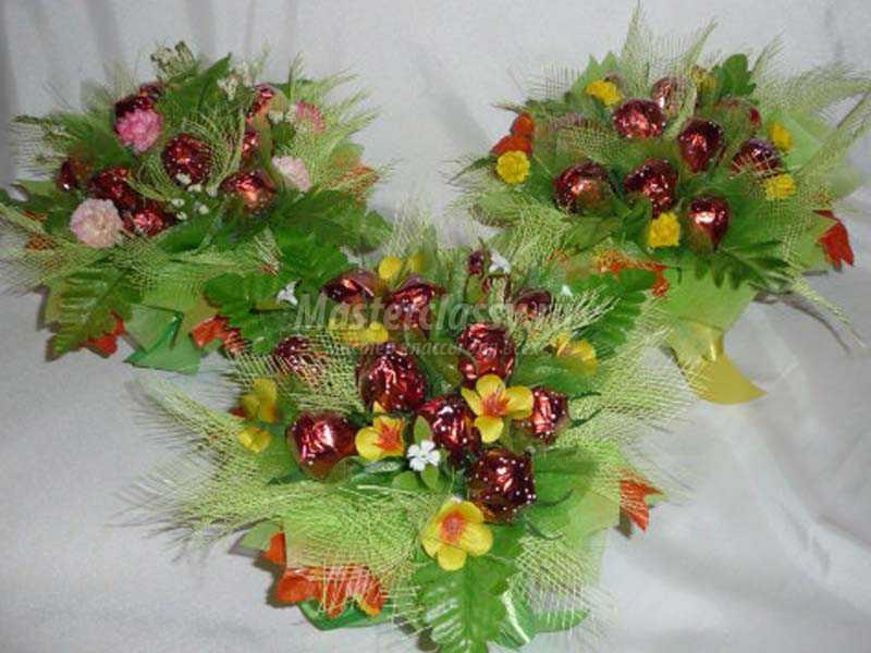 Декоративная корзинка с конфетами «Ягодки». Мастер-класс пошагово с фото