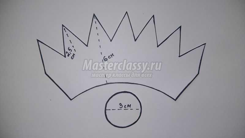 Как сшить корону своими руками выкройка 56