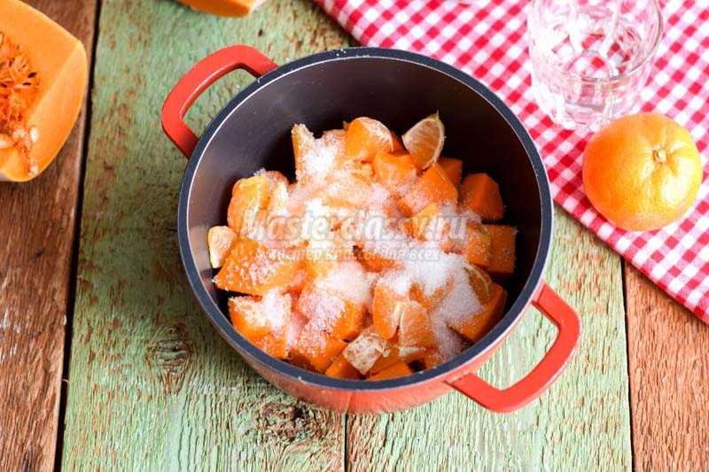 как сварить джем из тыквы с мандаринами