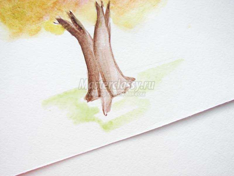осеннее дерево рисунок