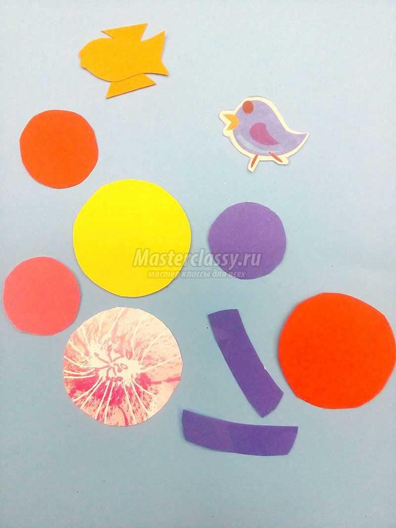 Аппликация из цветной бумаги «Мы встречали Новый год». Мастер-класс