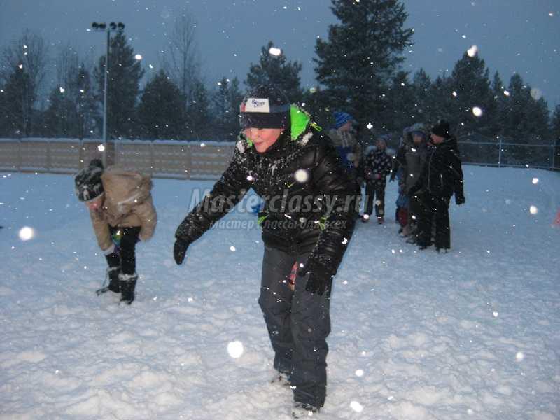 Сценарий для детей снежный ком