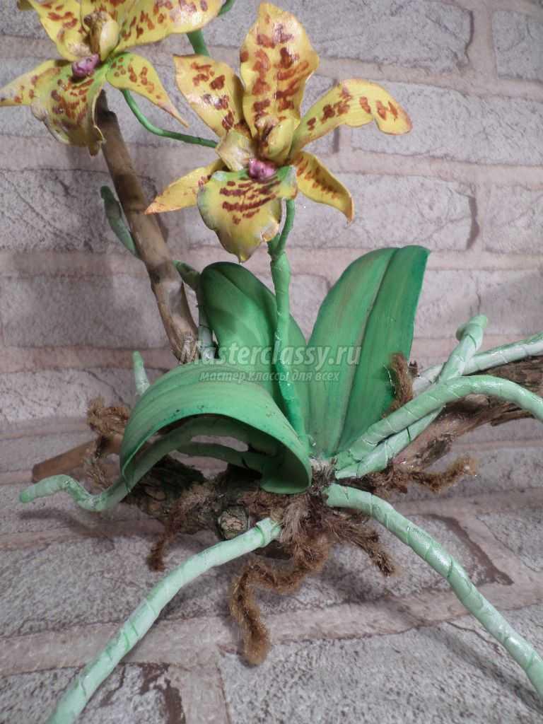 листья орхидеи из фоамирана