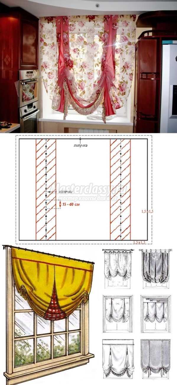 Новые шторы своими руками 55