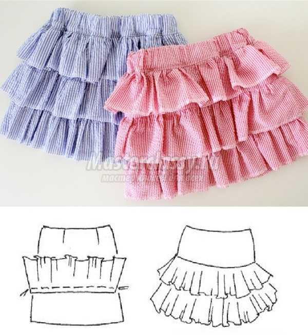 Как сшить юбку для девочки: пошаговые мастер-классы с фото