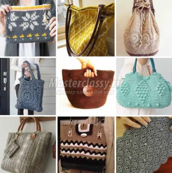 Вязаные сумки крючком: <u>объёмная</u> схемы и описания
