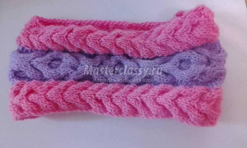 Вязание полосок для волос