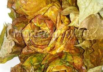 """Панно из листьев """"Женщина - осень"""". Мастер-класс"""