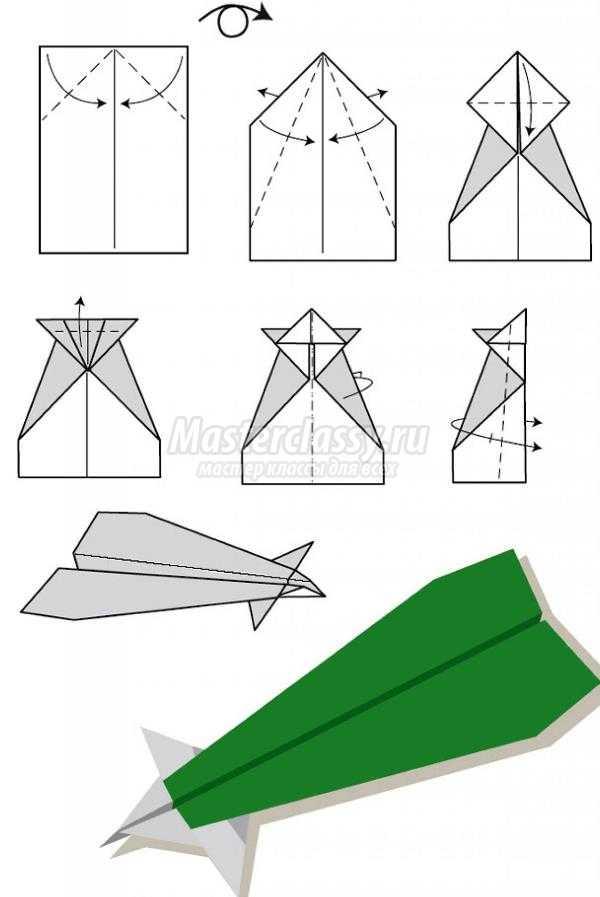 Как сделать из бумаги самолёт который высоко летает