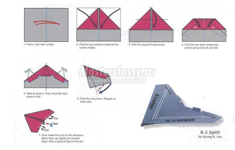 Как сделать из бумаги самолет который высоко летает из бумаги