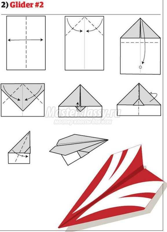 самолетик из бумаги летает