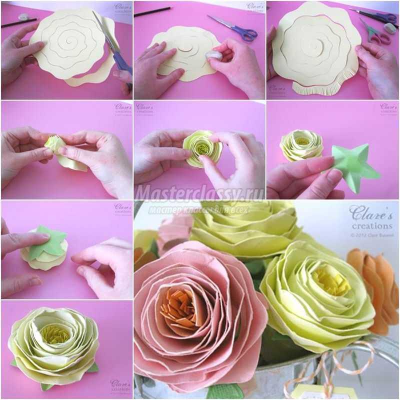 Цветы из бумаги пошаговое