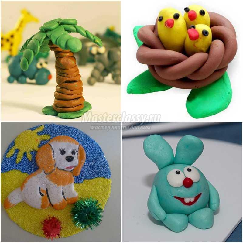 Поделки из пластилина своими руками для детей. Лучшие идеи с фото