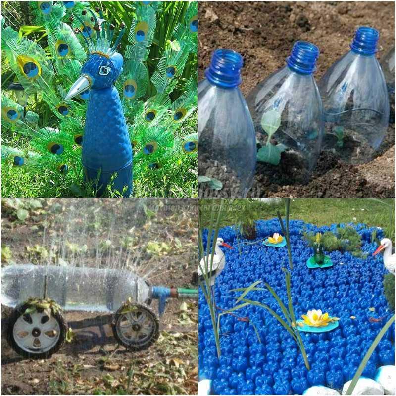 Иностранные поделки из пластиковых бутылок 13
