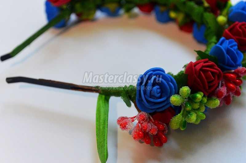 ободки для волос с цветами