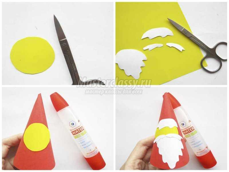 Дед Мороз из бумаги своими руками. Пошаговые мастер-классы с фото