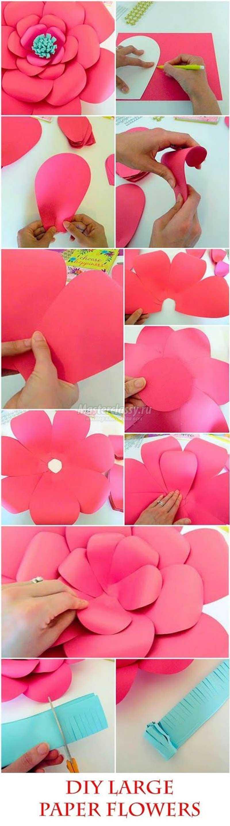 Цветы из бумаги своими руками: схемы и шаблоны - Мир Позитива 65