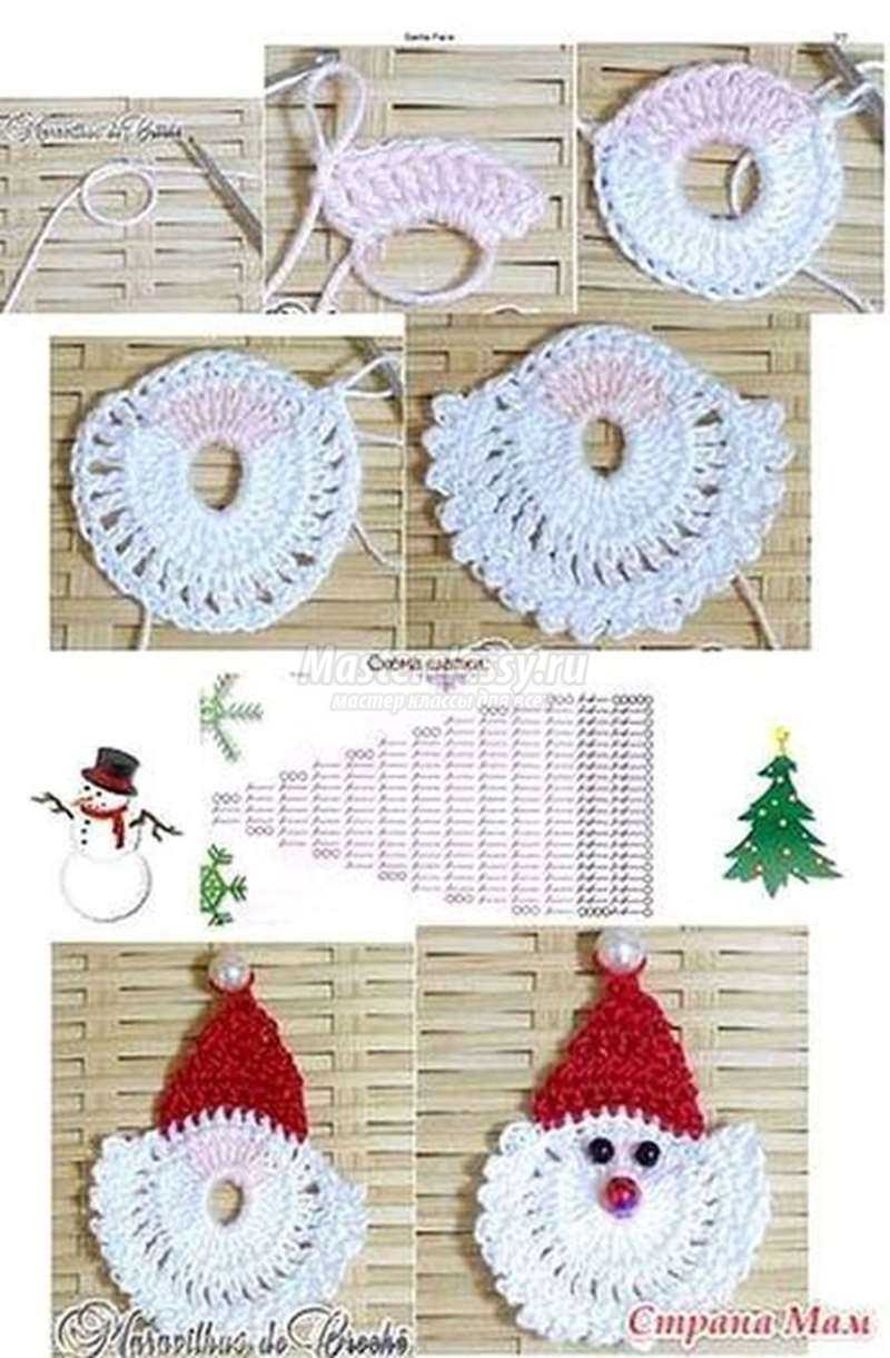 Дед мороз схемы вязания крючком 76